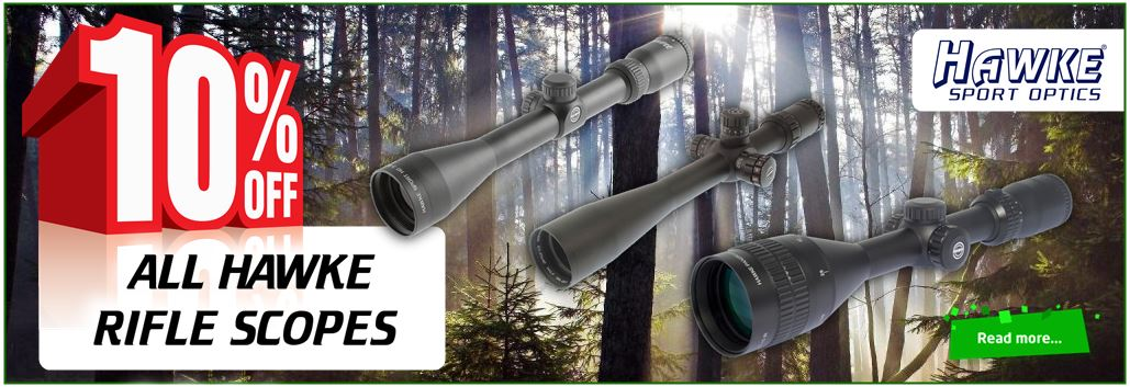 get 10% off all hawke scopes