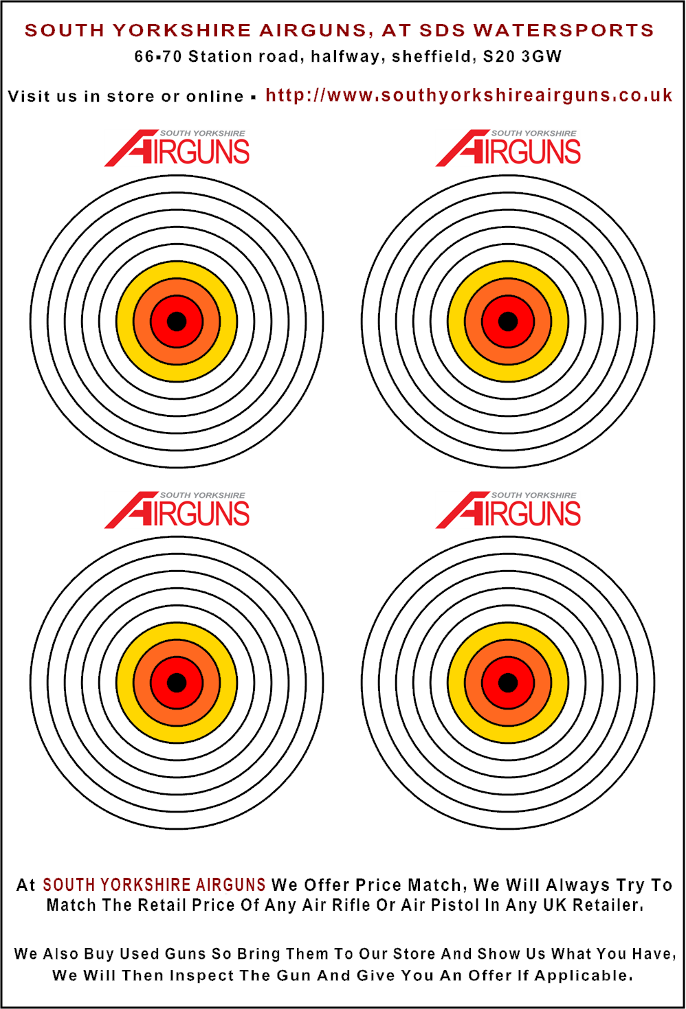 Playful image in printable air rifle targets