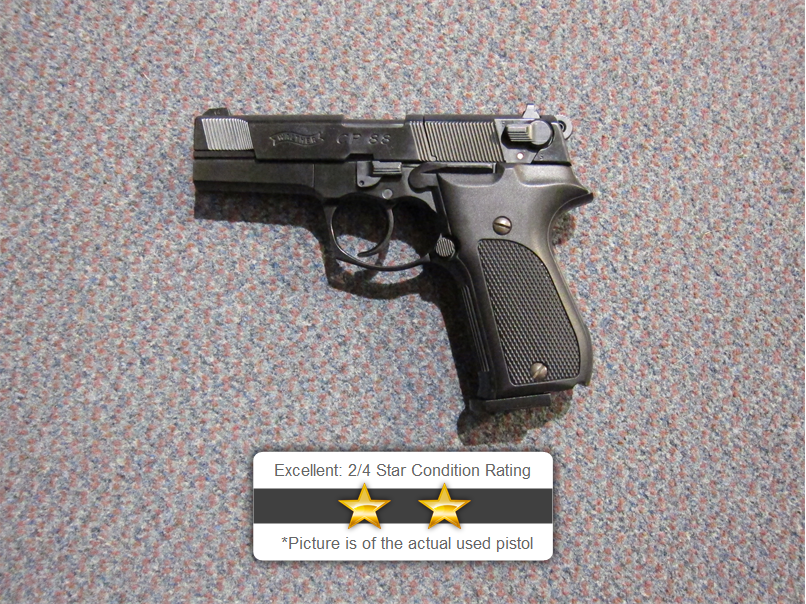 Used Walther CP88  177 Air Pistol & Case