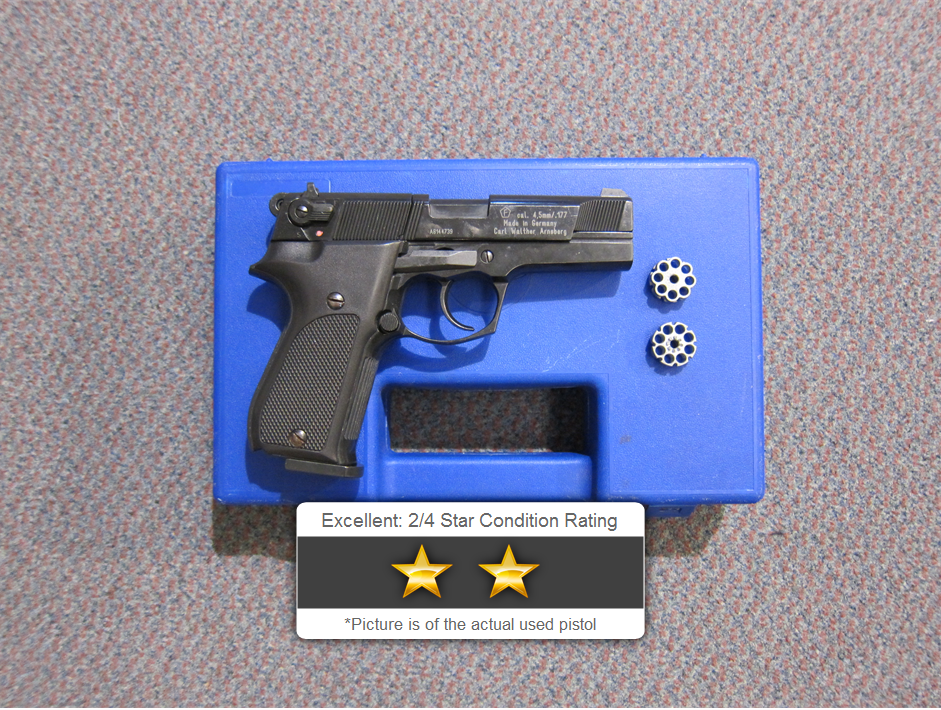 Used Walther CP88  177 C02 Air Pistol