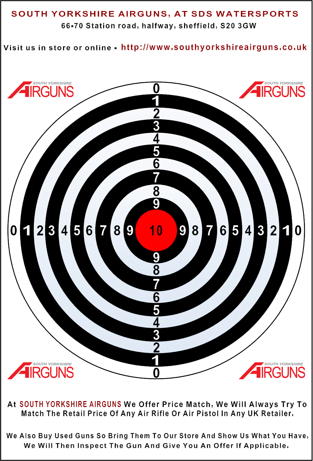 This is an image of Trust Printable Bb Targets
